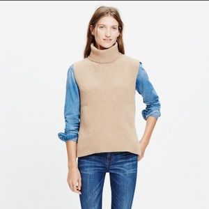 Madewell Sleeveless Turtleneck Sweater